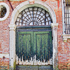 Venice doors by Jim Antonicello - Buildings & Architecture Architectural Detail ( doors, old, venice )