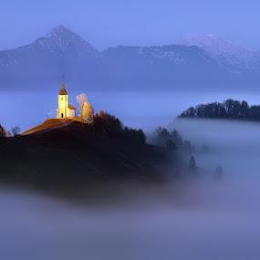 Just above by Izidor Gasperlin - Landscapes Mountains & Hills ( jamnik )