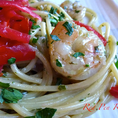 Fresh Pesto Shrimp Pasta