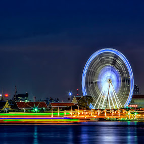 ASIATIQUE IN BANGKOK THAILAND by Nam Ning - Travel Locations Landmarks ( holiday lights )