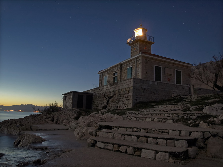 Light in the Dark by Marko Buntic - Buildings & Architecture Public & Historical ( blue hour, lighthouse, dark, long exposure, light )