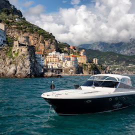 Amalfi Coast, Italy by Ann J. Sagel - Transportation Boats ( amalfi, amalfi coast, ann j. sagel, water, italy )