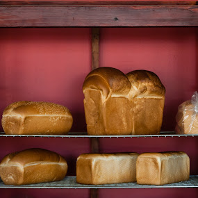 Big Bread by Mark Luyt - Food & Drink Cooking & Baking ( bread, small town shop, bakery, baked goods, fresh bread )