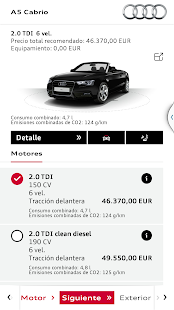 Audi Configurador - screenshot