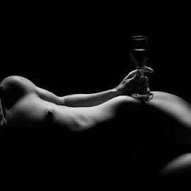 Wine hip by Niel Lombaard - Nudes & Boudoir Artistic Nude