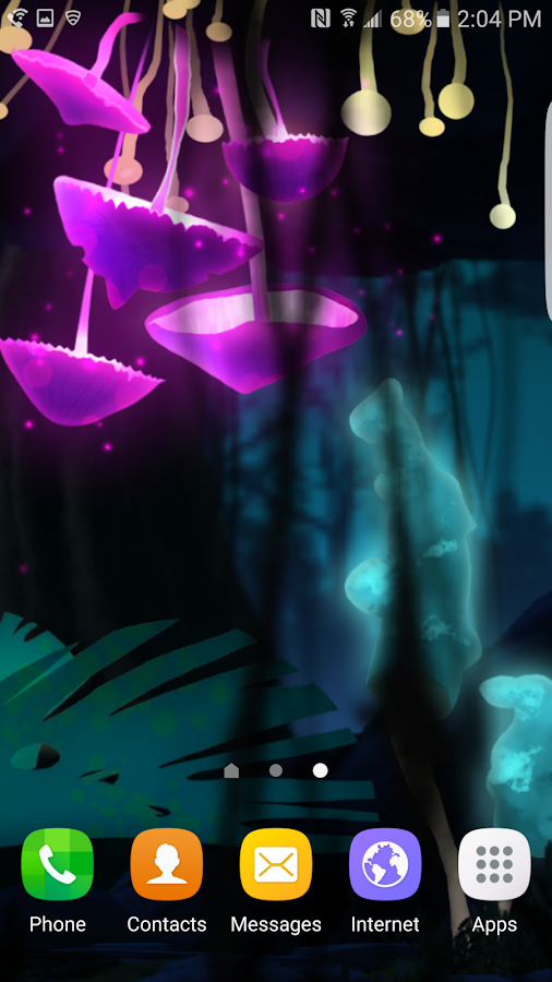 Fantasy Mushroom Jungle LWP Screenshot 1