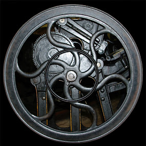 Old Printing Press Wheel by Jack Powers - Artistic Objects Other Objects ( printers, wheell, newspaper )