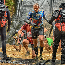 Dan The Teacher by Marco Bertamé - Sports & Fitness Other Sports ( water, differdange, splash, splatter, 2015, soup, running, luxembourg, muddy, strong, brown, strongmanrun, ¨2015, man )