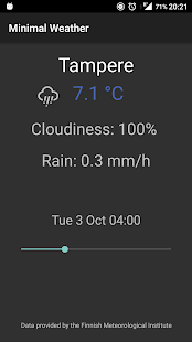 Minimal Weather screenshot for Android