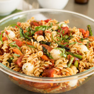 Grilled Vegetable Sun-dried Tomato Pesto Pasta