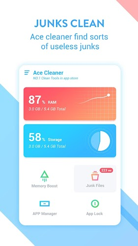 Ace Cleaner (Boost Speed Free) Android App Screenshot