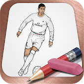 Drawing Lessons Soccer Star Cristiano Ronaldo APK for Bluestacks