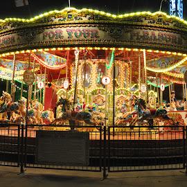 Illustration by J & M - City,  Street & Park  Amusement Parks ( color, illustration, image, fun, view )