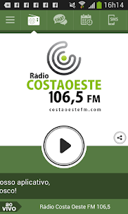 Rádio Costa Oeste FM 106,5 - screenshot