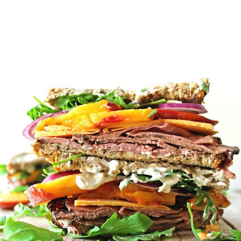 Peach And Pastrami Sandwiches With Peppery Mayo