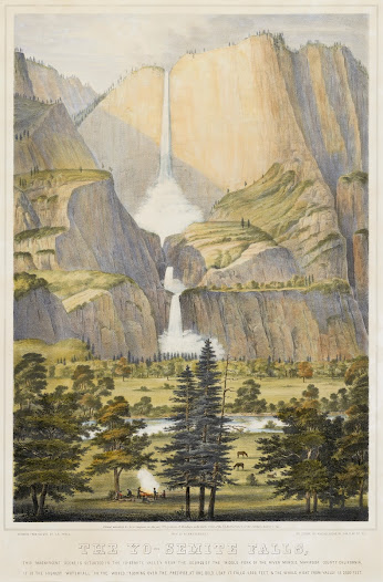 In 1855, a small group of entrepreneurs accompanied by artist Thomas Ayres were among the first tourists to visit Yosemite.  The paintings, drawings, articles in illustrated periodicals, and lithographic prints Ayres created after his trip served to promote tourism to the area. His works were distributed nationally, and art exhibitions of his drawings provided the public with some of the first artistic representations of Yosemite's natural wonders.