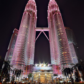 KLCC in Pink by Saya Serin - Buildings & Architecture Statues & Monuments