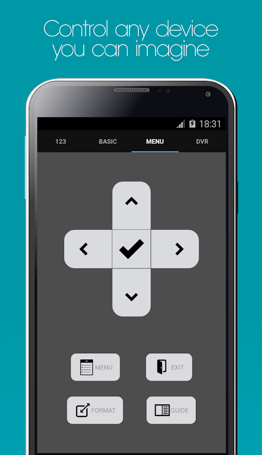 Galaxy Universal Remote Screenshot 1
