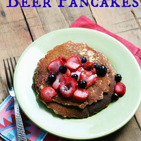 Beer Pancakes Recipe With Macerated Strawberries and Blueberries