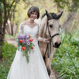 Walking by Lodewyk W Goosen (LWG Photo) - Wedding Bride ( wedding photography, wedding photographers, wedding day, bridal portrait, brides, wedding dress, wedding photos, wedding photographer, bride )
