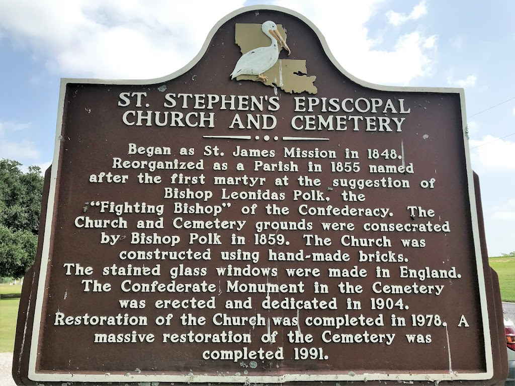 Began as St. James Mission in 1848. Reorganized as a parish in 1855 named after the first martyr at the suggestion of Bishop Leonidas Polk, the