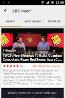 Screenshot of Channel 9