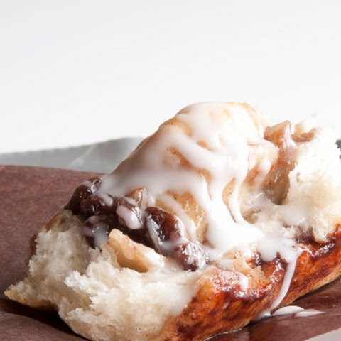 Glazed Apple Cinnamon Buns with Toasted Pecans and Raisins