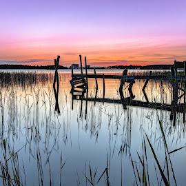 by Bojan Bilas - Landscapes Waterscapes ( ruissalo, sunset, finland, seascape, jetty )