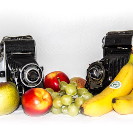 Fruit shoot by Andrew Lancaster - Food & Drink Fruits & Vegetables ( banana, fruit, life, grapes, food, still, pears, apples )