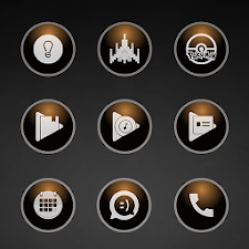 Glossy Brown Icons