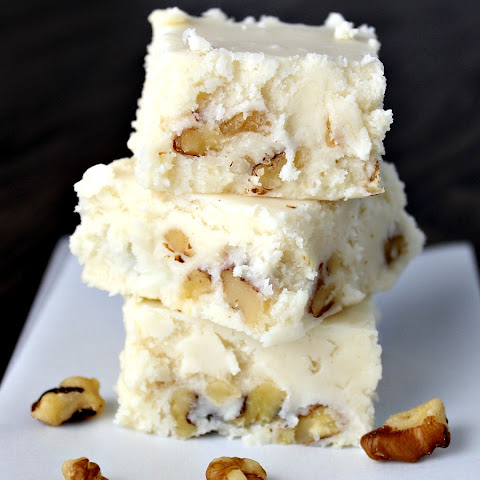 White Chocolate Butterscotch and Walnut Fudge