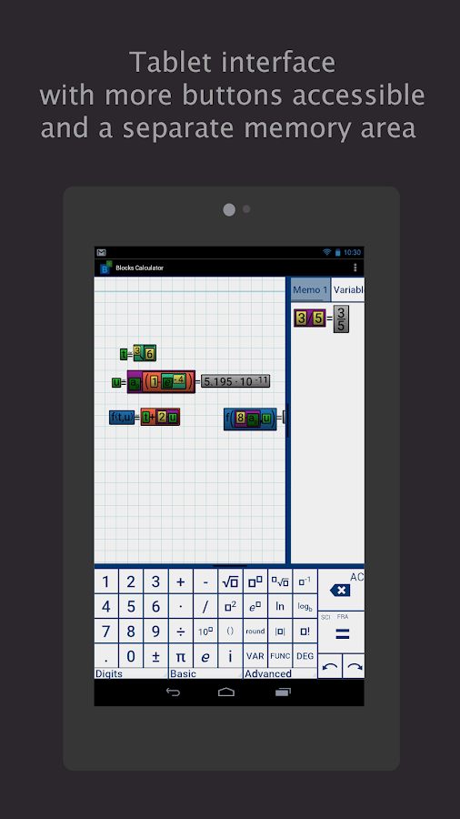 Blocks Scientific Calculator Screenshot 9