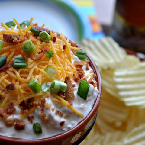 Loaded Baked Potato Chip Dip