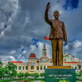 Ho Chi Minh City Monument by Rick Pelletier - City,  Street & Park  Historic Districts