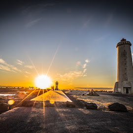 Akranes Lighthouse by Palmi Vilhjalmsson - Landscapes Travel ( akranesicelandbreiðlighthouseakranes lighthous )