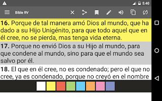 Screenshot of Bible Reina Valera