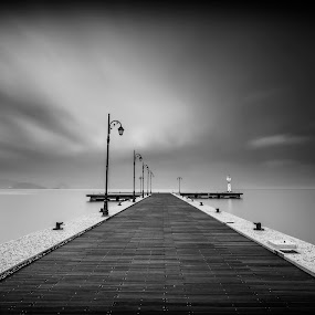 One way... by George Papapostolou - Black & White Landscapes ( kos, hellas, black and white, greece, fine art, kos island, seascape, landscape )