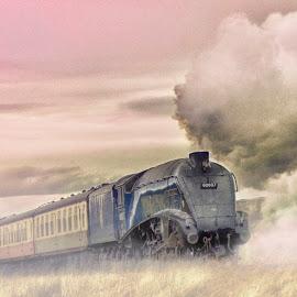 Gresley by Dez Green - Transportation Trains ( railway, railroad, steam train, trains, steam )