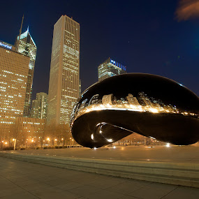 Beany  by Benjamin Arthur - City,  Street & Park  City Parks ( land of lincoln, united, illinois, park, kapoor, bean, america, benjamin, millenium park, states, benjaminarthur.com, cloud gate, usa, anish, photography, prairie state, windy city, photographer, chicago, arthur )