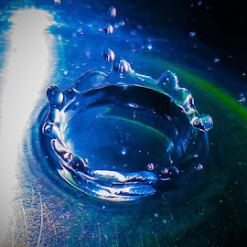 Water splash by Sam Cata - Abstract Water Drops & Splashes ( abstract, water, circles, water drops, splashing, splash, circle, splash water photography, splash water )