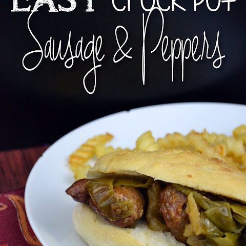 Easy Crock Pot Sausage & Peppers