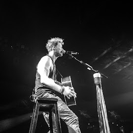 Brian Kelley by Tiffany Serijna - Black & White Street & Candid ( music, concert, florida georgia line, singing, black and white, candid, brian kelley, professional, country, playing, thomas rhett, tiffanyserijna, fgl, guitar, musician, artist )