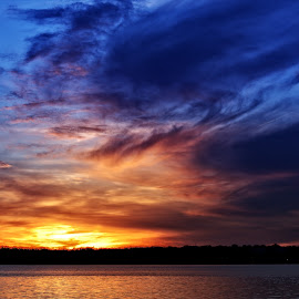 Sunset over the Potomac by Cindy Hartman - Landscapes Sunsets & Sunrises ( dc, sunset, alexandria, potomac, river )