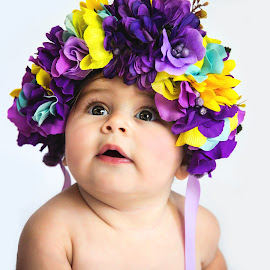 Bloomin' by Sharon Fuscellaro Canale - Babies & Children Babies ( little one, girl, purple, female, baby, flowers, pretty )