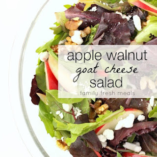 Apple Walnut Goat Cheese Salad