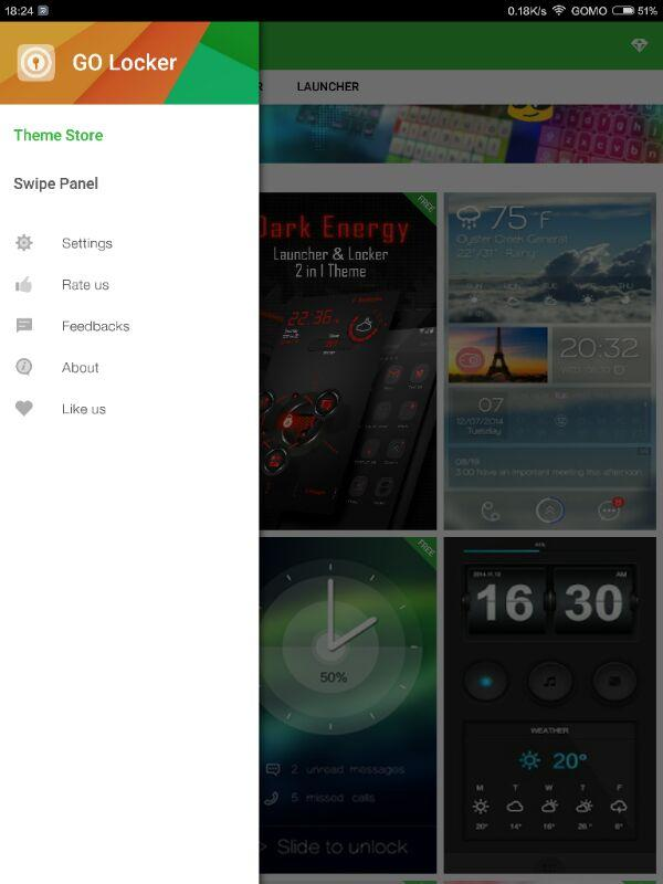 GO Locker - theme & wallpaper Screenshot 9