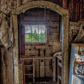 Pane of the Past by Debbie Slocum Lockwood - Buildings & Architecture Decaying & Abandoned (  )
