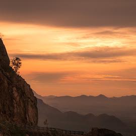 sun dawan by Mujeeb Rahman - Landscapes Travel ( hills, mountain, nature, sunset, sun dawn )