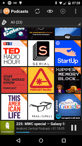 Podcast Addict (Android 2.3) screenshot 2