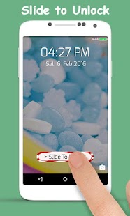Candy Theme Lock Screen - screenshot
